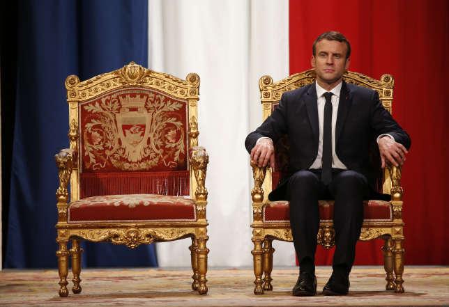 Le président Macron à l'Hôtel de Ville, le 14 mai2017.