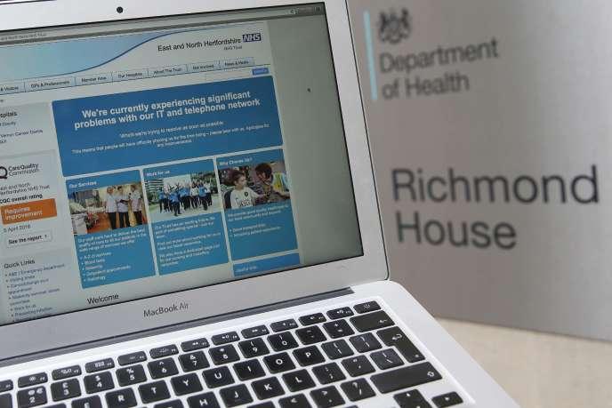 Le site du NHS britannique, le 12 mai.