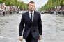 Emmanuel Macron à son arrivée à l'arc de Triomphe, le jour de son investiture le 14 mai.