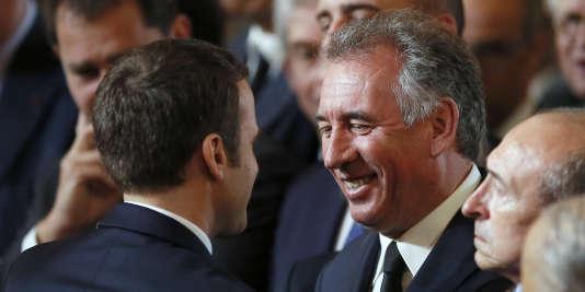 François Bayrou, lors de l'investiture d'Emmanuel Macron.