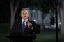 Sean Spicer, porte-parole de Donald Trump, s'adresse à la presse devant la Maison Blanche, le 9 mai.