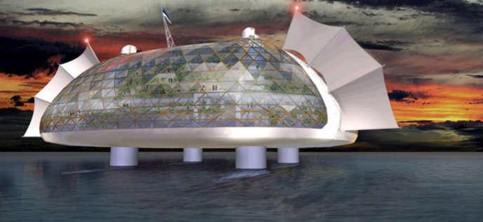 Le projet d'île flottante qui pourrait voir le jour dans les eaux internationales au large de la Polynésie.