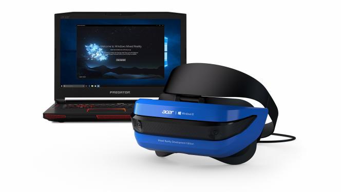 Microsoft a présenté, à Microsoft Build 2017, un casque de réalité mixte signé Acer.