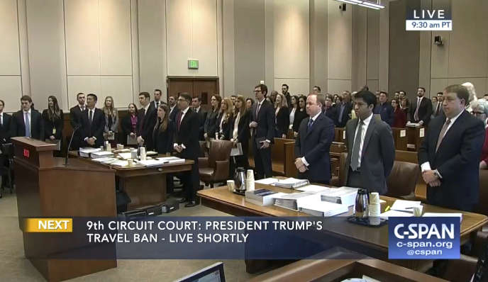 La cour d'appel de Seattle, lundi 15 mai.