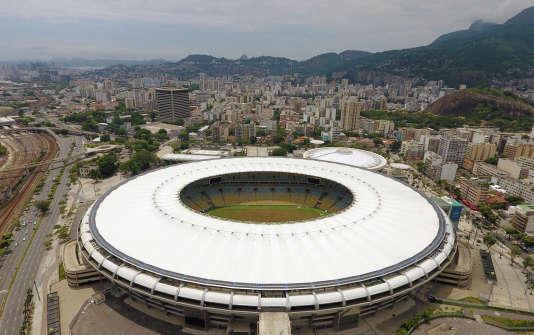 Vue aérienne du stade Maracana de Rio de Janeiro, le 18 janvier 2017.