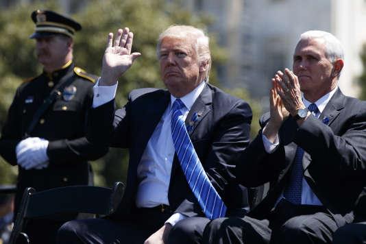 Le président, Donald Trump, et le vice-président des Etats-Unis, Mike Pence, à Washington le 15 mai.