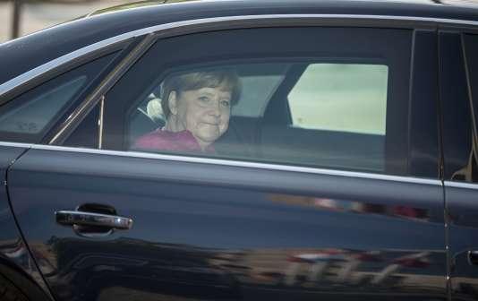 La chancelière allemande, Angela Merkel, arrive à un meeting de la CDU, à Berlin, le 15 mai.