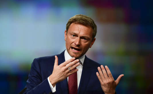Le président du FDP, Christian Lindner, à Berlin le 28 avril.
