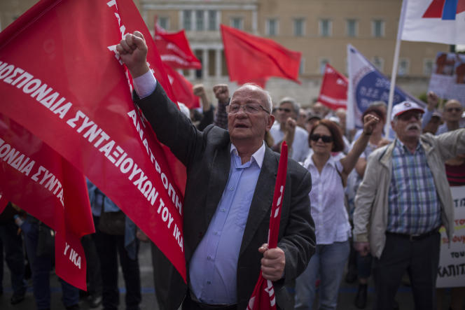 Manifestation du 1er-Mai, à Athènes.