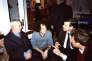Chez Jean-Pierre et CatherineGoldenstein, enfévrier2003 :Degauche à droite, PaulRicœur, FrançoisDosse, AntoineGaraponet Emmanuel Macron.