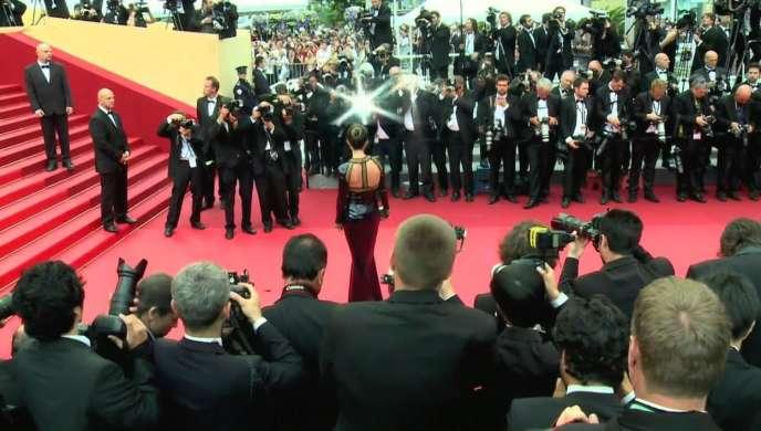 Le tapis rouge à Cannes.