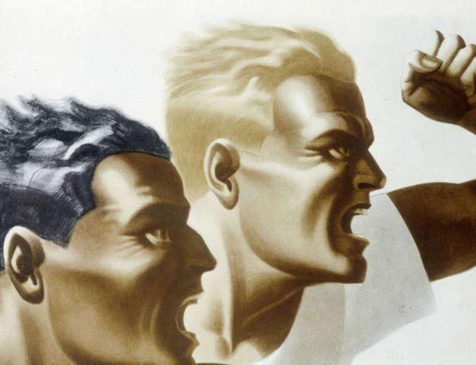 Affiche des Jeux olympiques de Berlin de 1936 (détail).