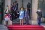 Brigitte et Emmanuel Macron lors de la passation des pourvoirs à l'Elysée le 14 mai.