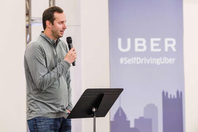 Anthony Levandowski, fondateur d'Otto, une start-up spécialisée dans les technologies de la voiture autonome, en septembre 2016, àPittsburgh, en Pennsylvanie.
