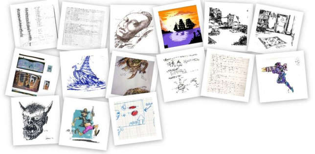 Montage d'archives de la collection de Bertrand Brocard. Ici, des documents fournis par Eric Cubizolle, contributeur à la revue «Pix'n Love».