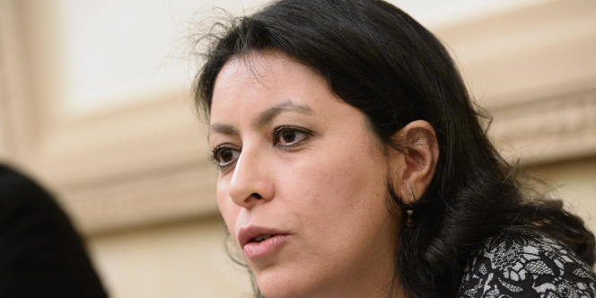 Leïla Aïchi en avril 2015 à l'Assemblée nationale en avril 2015.