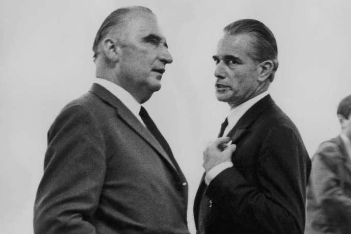 Georges Pompidou et Jacques Chaban-Delmas en 1969.