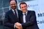 «La volonté d'Emmanuel Macron de légiférer avant l'été par ordonnances est légitime. Il y aura concertation, certes, et les organisations syndicales seront écoutées ; mais il faut agir, et vite». (Photo : En février 2016, Emmanuel Macron, ministre de l'économie à l'époque, échange une poignée de main avec le maire du Havre Edouard Philippe, devenu aujourd'hui son premier ministre).