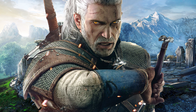 Geralt, héros de la trilogie « The Witcher », en jeu vidéo, souvent comparée à « Game of Thrones ».
