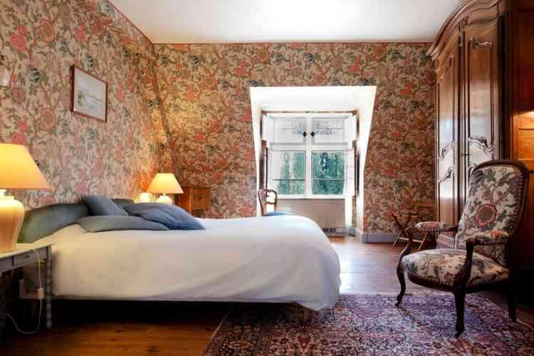 La chambre Baron du château de Troussay, le plus petit du val de Loire.
