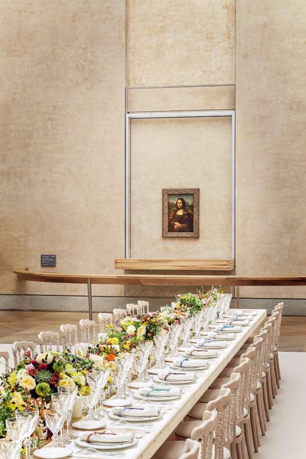 Ungrand dîner au Louvre a été organisé par Louis Vuitton, le 11 avril.