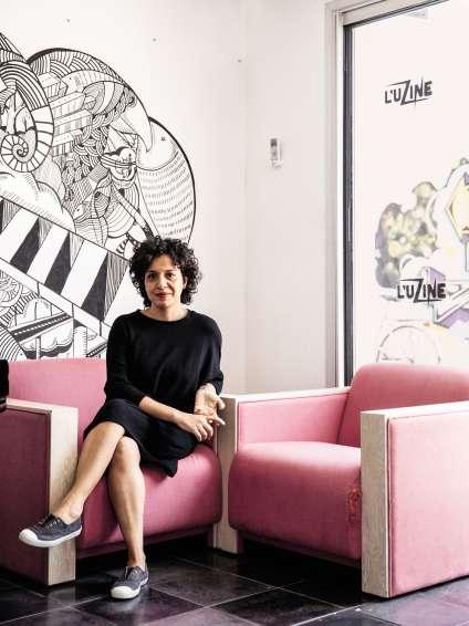 Maria Daïf, directrice de L'Uzine, lieu de culture et de création.