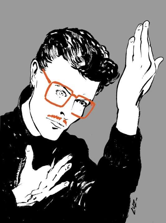 Autoportrait de Luz façon David Bowie, inspiré de la pochette du disque «Heroes», réalisée en 1977 par Masayoshi Sukita.