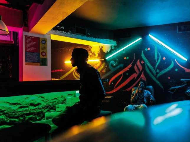 Déco arty et ambiance décontractée, dans le vieux Casablanca, le Vertigo accueille une jeunesse alternative.