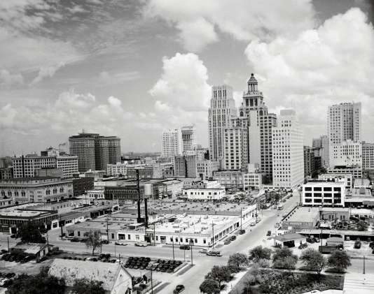 Vue sur le quartier d'affaires, 1941.