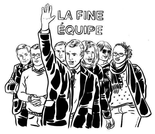 Macron et sa garde rapprochée.