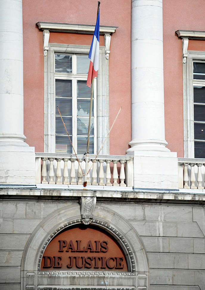 Au palais de justice de Chambéry.