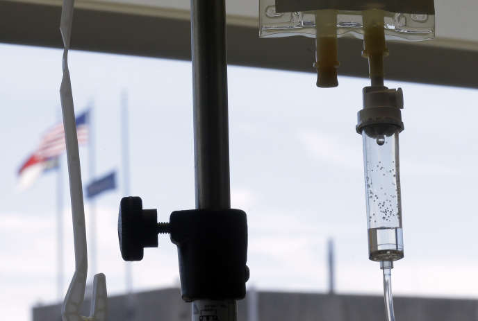 Une perfusion à l'hôpital de Durham, en Caroline du Nord, en 2013.