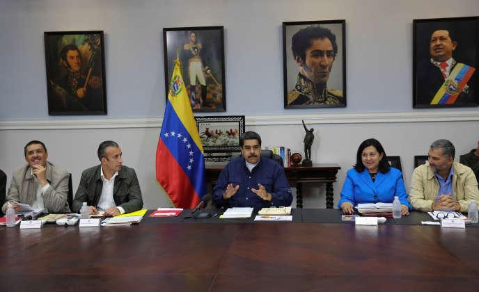 Le président vénézuélien Nicolas Maduro, lors d'un conseil des ministres, à Caracas, le 16 mai 2017.