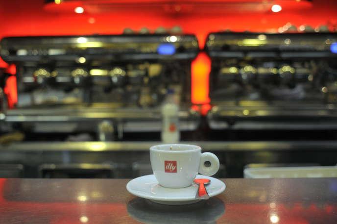 Boutique-café Illy, à Rome, en2013.