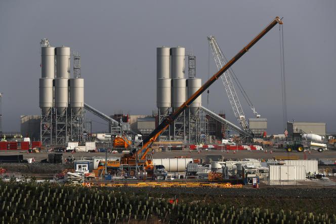 Le chantier de la centrale nucléaire d'Hinkley Point, dans le sud-ouest de l'Angleterre, en septembre 2016.