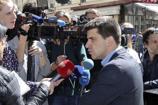 Mathieu Hanotin, le 9 mai. Proche de Benoît Hamon, il codirigea sa campagne présidentielle.