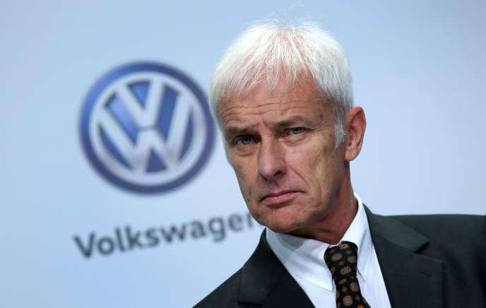 Matthias Müller, le patron deVolkswagen, en novembre 2016.