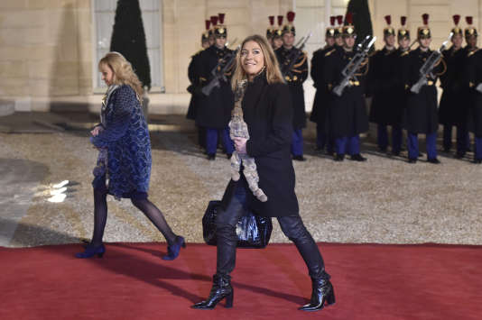 Marie-Christine Saragosse, présidence de France Médias Mondeà l'Elysée en février 2016.