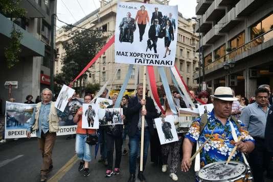 Des manifestants à Athènes.