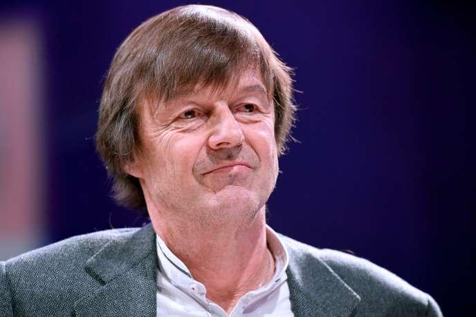 Nicolas Hulot, lors d'un événement organisé par sa fondation pendant la campagne présidentielle, le 23mars.
