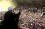 Le président iranien Hassan Rohani, qui brigue un second mandat, lors d'un meeting à Ardabil, le 17 mai.