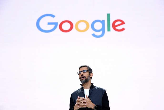 Sundar Pichai, le PDG de Google, lors de la conférence Google I/O, à Mountain View (Californie), le 17mai.