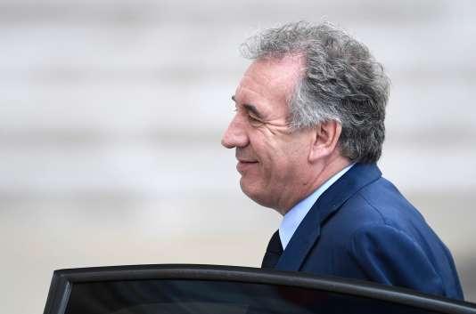Le ministre de la justice François Bayrou, le 18 mai à l'Elysée.
