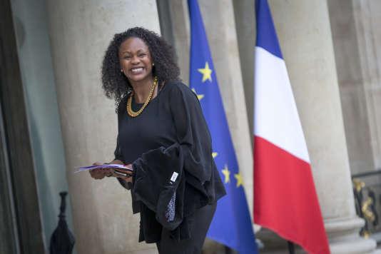 Laura Flessel, ministre des sports, arrive à l'Elysée pour leconseil des ministre, le 18 mai.