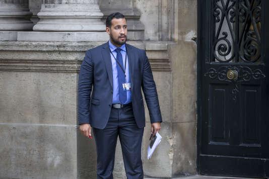 Alexandre Benalla, adjoint au chef de cabinet d'Emmanuel Macron, au palais de l'Elysée à Paris, le 18 mai 2017.