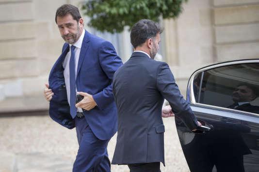 Christophe Castaner, porte-parole du gouvernement, à l'Elysée, jeudi 18 mai.