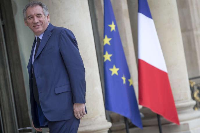 François Bayrou, garde de sceaux, ministre de la justice, participe au conseil des ministres au palais de l'Elysée à Paris, jeudi 18 mai 2017.