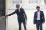Bruno Le Maire, ministre de l'économie, et Nicolas Hulot, ministre de la transition écologique et solidaire, le 18 mai.