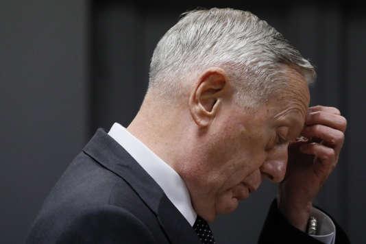 Le secrétaire américain à la défense, James Mattis, le 24 avril.