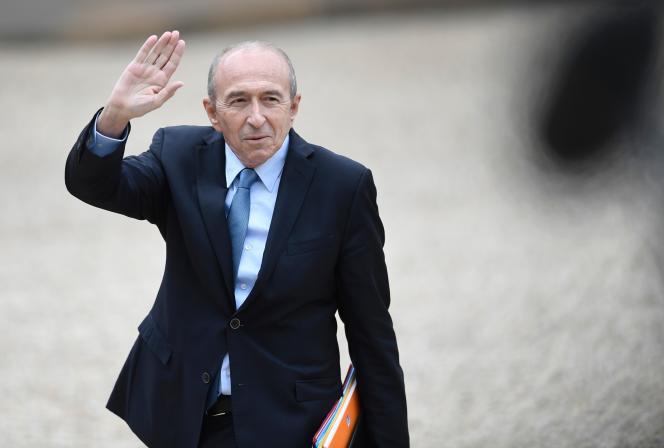 Le ministre de l'intérieur Gérard Collomb à l'Elysée, le 18 mai.